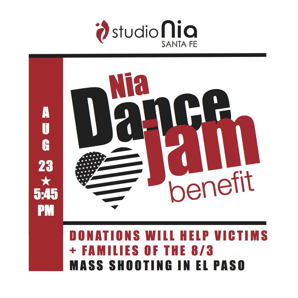 Nia Jam Benefit for El Paso design bolder copy